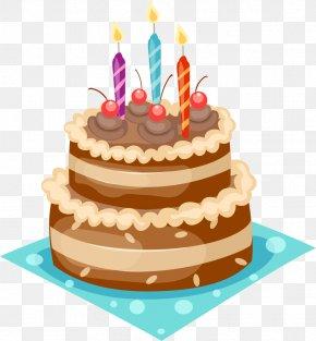 Funky Birthday Cake - Chocolate Cake Cupcake Birthday Cake Clip Art PNG