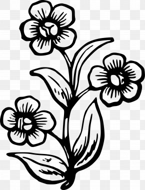 Flower Drawing - Drawing The Head And Hands Stencil Flower PNG