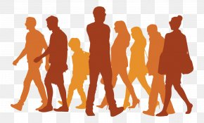 Passers-by Walking Silhouette Vector - Silhouette Walking Icon PNG
