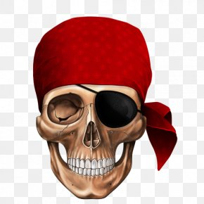 Pirate Skull - Human Skull Symbolism Piracy Jolly Roger PNG