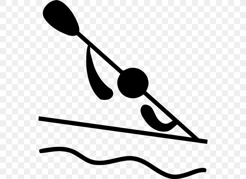 Canoeing At The 2012 Summer Olympics Summer Olympic Games Canoe Slalom Clip Art, PNG, 564x595px, Summer Olympic Games, Artwork, Black And White, Canoe, Canoe Slalom Download Free