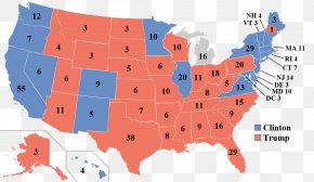 Us Presidential Election - US Presidential Election 2016 United States Electoral College PNG