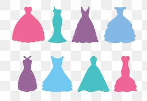 Wedding Dress Silhouette - Wedding Dress Bride Silhouette PNG