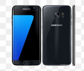 Galaxy S7 Edge - Samsung Android Smartphone Telephone Black PNG