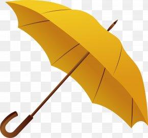 Yellow Umbrella - Umbrella Gadget Color PNG