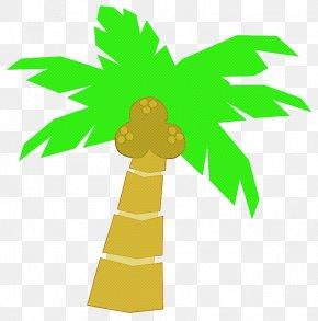Plant Stem Symbol - Summer Palm Tree PNG