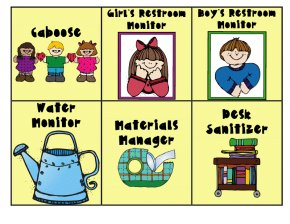 Henry And Mudge Clipart - Classroom Job Chore Chart Clip Art PNG