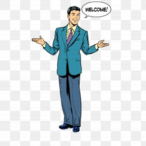 A Man In A Suit - Presentation Royalty-free Drawing Illustration PNG