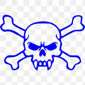 Skull - Skull And Crossbones Embroidered Patch Iron-on PNG