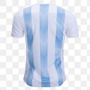 T-shirt - 2018 World Cup Argentina National Football Team T-shirt Copa América Jersey PNG