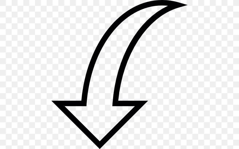 Arrow Symbol Curve Png 512x512px Symbol Area Black Black And