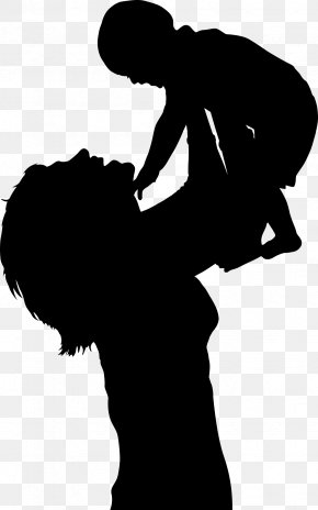 Silhouette - Infant Mother Silhouette Clip Art PNG