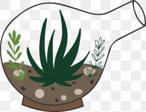 Hand-painted Bulb Plant Pot - Plant Glass Illustration PNG