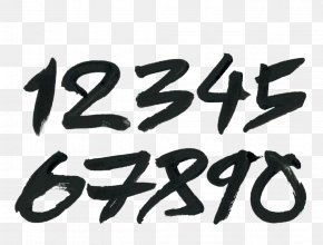Writing A Pen - Calligraphy Brush Numerical Digit PNG