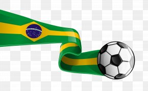 Soccer Ball With Brazilian Flag Transparent Clipart Picture - Brazil Clip Art PNG