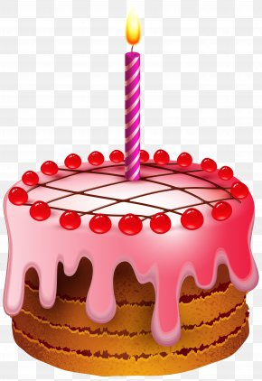Birthday Cake With Candle Transparent Clip Art Image - Birthday Cake Clip Art PNG