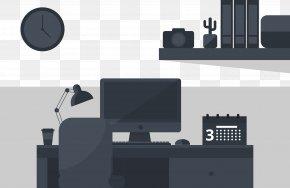 Desk Work Supplies - Computer Desk PNG