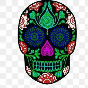 Green Skull Cliparts - Calavera Day Of The Dead Human Skull Symbolism Clip Art PNG