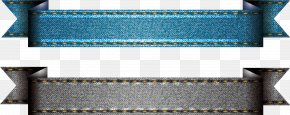 Vector Denim Fabric Ribbon - Denim Textile Jeans Ribbon PNG
