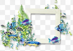 Picture Frame Plant - Watercolor Background Frame PNG