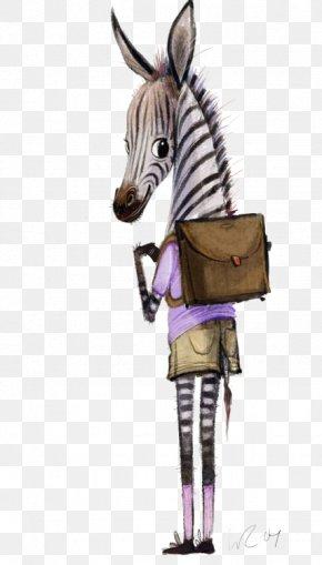 Zebra - Quagga Mane Zebra Animal Illustration PNG