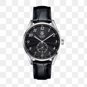 TAG,Heuer Black Leather Strap Watch - TAG Heuer Automatic Watch Chronograph Jewellery PNG