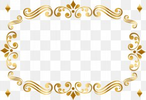 Beautiful Gold Pattern Frame - Gold Picture Frame Green Pattern PNG