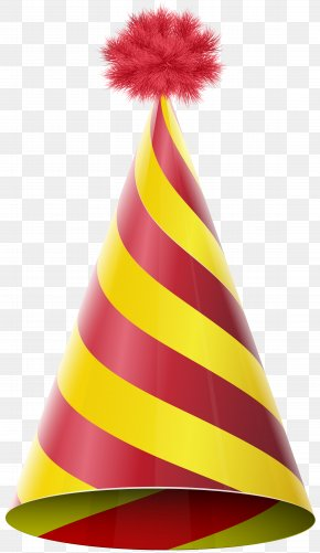 Party Hat Red Yellow Transparent Clip Art Image - Party Hat Birthday Clip Art PNG