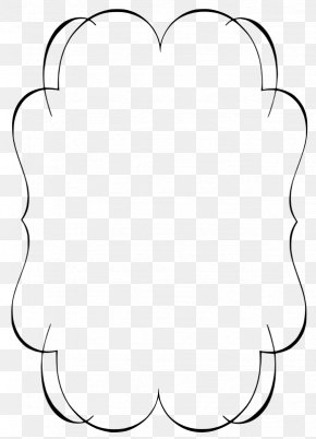 White Border Frame Transparent - Line Black And White Point Angle PNG