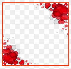 Hearts Background - Valentine's Day Heart Love Romance Clip Art PNG