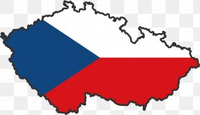 Country - Flag Of The Czech Republic Map Clip Art PNG