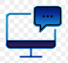Electric Blue Computer Monitor Accessory - Business Set Icon Computer Icon Chat Icon PNG
