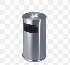 Stainless Steel Trash Can - Hanoi Stainless Steel Waste Barrel Paper PNG