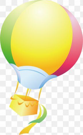 Colored Hot Air Balloon Pictures - Hot Air Balloon Clip Art PNG