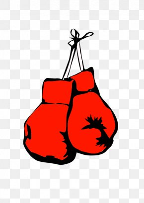 A Pair Of Red Boxing Gloves Cartoon - Boxing Glove Clip Art PNG