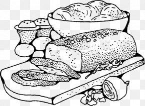 Line Art Food - Fast Food Clip Art PNG