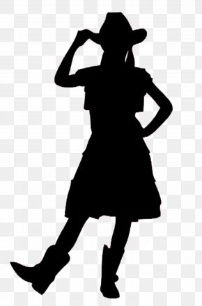 Cowgirl - Silhouette Cowboy Woman On Top Clip Art PNG