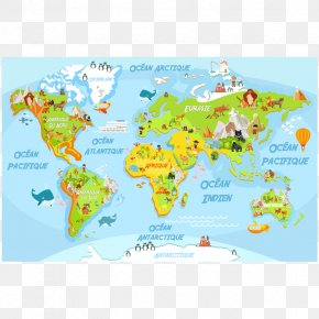World Map - World Map Sticker Wall Decal PNG