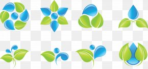 Green Leaves Decorative Icon Vector Water - Logo Drop Water Stock Photography PNG