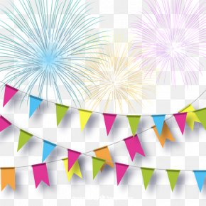 Color Festive Fireworks And Pull Flag Background Vector - Adobe Fireworks PNG