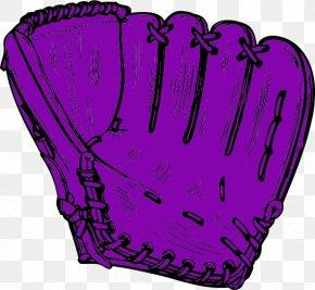 Purple Softball Cliparts - Baseball Glove Clip Art PNG