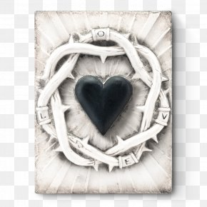 Silver Heart - Wedding Love Background PNG