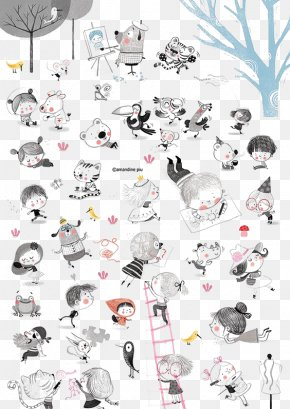 Cartoon Doodle Children - Drawing Illustrator Djeco Illustration PNG