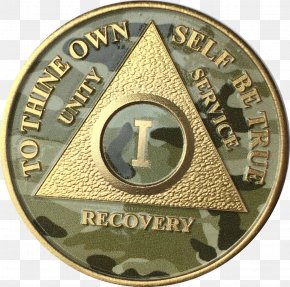 Gold Chip - Medal Sobriety Coin The Big Book Alcoholics Anonymous PNG