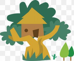 Built In A Tree House - Tree Forest Clip Art PNG