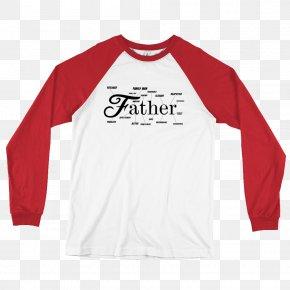 Printed T Shirt Red - Long-sleeved T-shirt Raglan Sleeve Clothing PNG