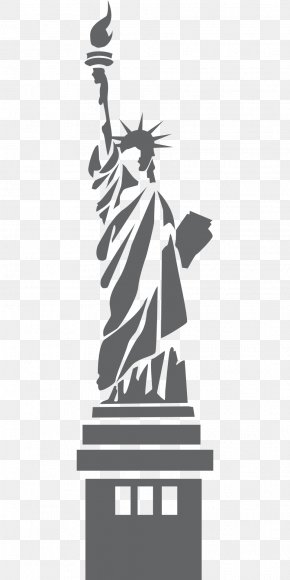 Statue Of Liberty Silhouette - Statue Of Liberty Clip Art PNG