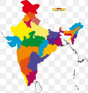 Color Map - Gurugram States And Territories Of India Vector Map PNG