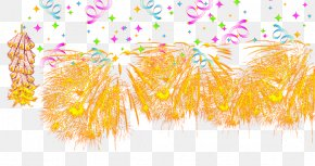 Orange Fireworks Celebration - Traditional Chinese Holidays Yellow Chinese New Year Mid-Autumn Festival PNG