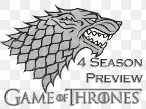Game Of Thrones Season - Eddard Stark A Game Of Thrones Gray Wolf House Stark Winter Is Coming PNG